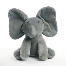 Wholesale Elephant Plush Stuffed Toy Doll - 40CM New Style Peek A Boo Elephant Stuffed Animals & Plush Elephant Doll Play Music Elephant Educational Anti-stress Toy For Children