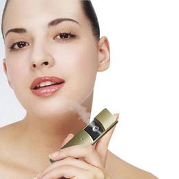 Wholesale Mist Vaporizer - Ultrasonic Mist Facial Steamer Nano Mist Sprayer Vaporizer Handy Nano Face Spray Care Health Spa For Skin Ultrasonic Face Beauty