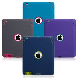 plastic hard robot case defender Promo Codes - 3 in 1 Defender Robot Heavy Duty Shockproof Silicone TPU Hard PC Cover Case For New iPad 2017 Pro 9.7 2 3 4 5 6 Air Air2 Mini Mini4 PCC057
