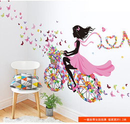 Wholesale Pink Fairy Wall Stickers - DIY Art Sticker Home Wall Decor PVC Wall Sticker Decal Quote fairy girl flower Fairies butterfly moon horse Cartoon new fashion Removable