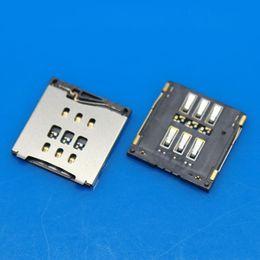 Sim steckverbinder online-SIM-Kartensteckplatz Reader Holder Connector SIM-Kartensteckplatz Ersatzteil für iPhone 6 6 Plus