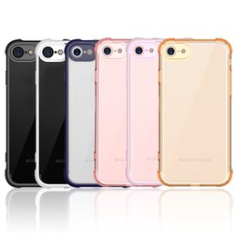 2019 iphone air back Para iphone 7 iphone 7plus funda Air Cushion Corners Absorción de golpes TPU Bumper Crystal Clear PC Funda trasera Ultra Slim fit Funda protectora iphone air back baratos