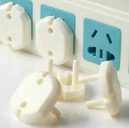 Wholesale Safety Plug Covers - 2017 hot 2 Hole Sockets Cover Plugs Baby Electric Sockets Outlet Plug Kids Electrical Safety Protector Sockets Protection Caps