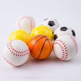 Wholesale Football Stress Balls - 6.3cm Basketball Football Squeeze Stress Balls Finger Exercise Ball Party Gifts Anti-stress Sports Ball Children Decompression Toys