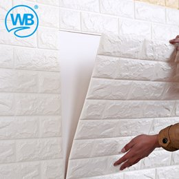 Wholesale Metal Ceramic Tiles - Wholesale- 3 d wall waterproof decorative stickers since the sitting room TV setting wall wallpaper stick ceramic tile stick wallpaper-10z
