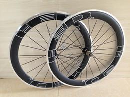 Wholesale Carbon Alloy Bike Wheels - 60mm Alloy Brake Surface carbon wheelset 60mm clincher Aluminum carbon Road Bicycle wheel 700C carbon wheels with quick release