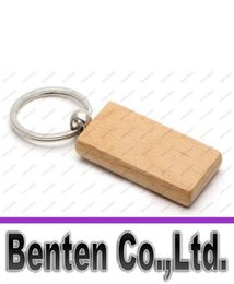 Wholesale Wholesale Wooden Key Chains - Wooden Key Chain Rectangle 2.2''*1.19'' Blank name keychains Free Engraving key ring LLFA