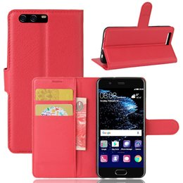 Wholesale Huawei Flip Case - Flip Wallet Case For Huawei P10 P10 Plus TPU Leather Crazy horse cover for Huawei P10 case bookstyle with kickstand 2017 new