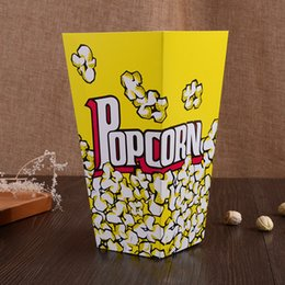 Wholesale Kids Party Paper Bags - Popcorn Paper Container Popcorn Boxes Kids Party Treat Boxes Bags Wedding Birthday Decorations