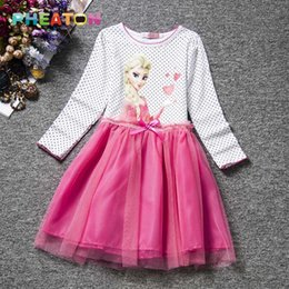 Wholesale Children Playing Snow - Princess Anna Elsa Girl Dress Snow Queen Cosplay Role-play Girls Costumes Birthday Party Dress Children Clothing