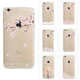 Wholesale Drawing Pattern Case - iPhone 7 Ultra Thin Soft TPU Phone Case Transparent Back Cover Flower Drawing Pattern For iPhone 6 6s Plus OPP BAG