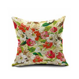 Wholesale Brown Bird Design - Classic fashion spider-man European birds and flowers design digital printing pillow Linen pillow cushion for leaning on is black pink red w