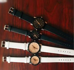 Wholesale digital leather watch - Wholesale 100pcs lot Mix 2Colors Quartz Leisure men women fashion lovers convex belt watch children watch digital watches WR010