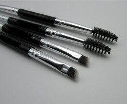 Wholesale Eyebrow Brushes - Duo Brush #12 #7 #15 #20 Makeup Brushes with Logo Large Synthetic Duo Brow Eyebrow Makeup Brushes Kit Pinceis Factory Wholesale