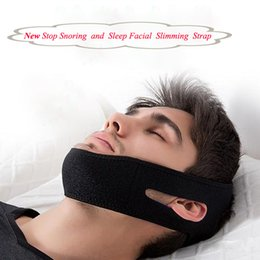 Wholesale Belt Strip - 2pcs lot New Function Sleep Stop Snore Belt Anti-Snoring Jaw Straps with Face Massage Slimming Band Men Women Face Care Sleep Belt