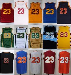 Wholesale Vintage Irish - 2017 Men 23 LeBron James Basketball Jerseys Throwback St. Vincent Mary High School Irish Movie TUNESQUAD James Jersey Vintage Red Black Blue