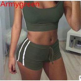 Wholesale Women S Gray Vest - 2017 Early Spring New Women Vest Shorts Casual Suit Tracksuits Square Neck Mid Active Running Broadcloth