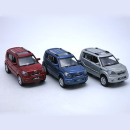 Wholesale Pull Back Cars - 15CM Length Diecast Kia Soul Model Car, Kids Childrens Boys Metal Toys Gift With Openable Door Pull Back Function Music Light