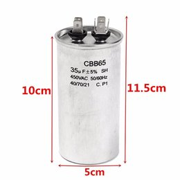 Wholesale Purpose Films - Wholesale-CBB65A-1 AC 450V 35uF 5% Washer Air Conditioner Polypropylene Film Capacitor more stable and longer life Capacitors