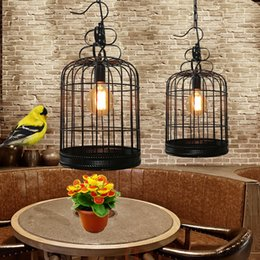 Wholesale Hot Pot Restaurant - Free delivery, iron cage lights, restaurant chandeliers, originality, simple bar, coffee shop, hot pot shop, retro industrial wind decorativ