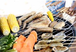 Barbecue alla griglia Barbecue da giardino Barbecue da campeggio Le migliori vendite facili da montare e pulire le griglie per barbecue da