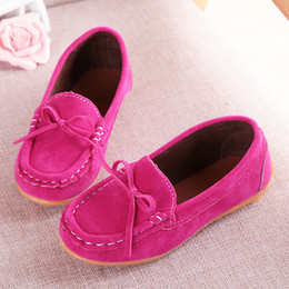 Wholesale Loafer Shoes Kids - New autumn children girls shoes cute butterfly-knot loafers kids breathable single shoes girls fashion flat shoe