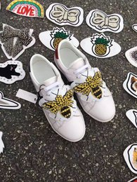 Wholesale B Patches - 2017 The new luxury white shoes Fashion personality patches leisure sports Lovers shoes women size 35-40,men size 38-44