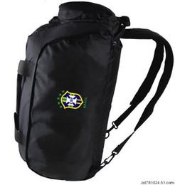 Wholesale Football Handle - Brazil duffel bag Soccer team handle tote Quality Brasil backpack Football luggage Sport shoulder duffle Outdoor sling pack