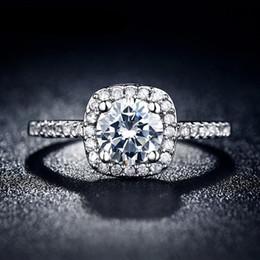 Canada Mode vente chaude Anneaux de mariage pour les femmes bijoux de luxe anneaux Fiançailles carré AAA zircon Accessoires Bateau Libre Offre