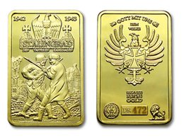 Wholesale Gold Battle - World War II Battle of Stalingrad Germany VS USSR 24K Gold Plated Coin Token