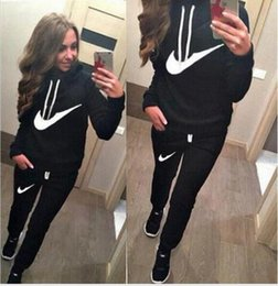 Wholesale Cashmere Hoodie Women - 2016 New spring Letter Print SportSuit,Tracksuits cotton Women Sweatshirt set Hoodies and pant Pullovers