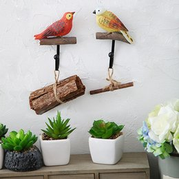 Wholesale Wall Hanging Hangers - Birds Resin Coat Door Hangers High Load-Bearing Creative Resin Decor Design Hanger Hanging Clothes Sticky Hooks Decorative Wall Hook