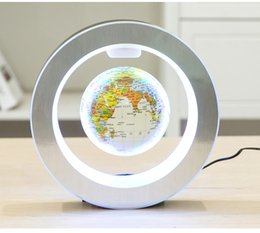 Wholesale Magnetic Levitation Floating Globe World - Levitation Floating Globe Rotating Magnetic Mysteriously Suspended In Air World Map Home Decoration Crafts Fashion Holiday Gifts