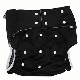 Wholesale Diaper Adults Wholesale - Wholesale- LWELA Black Adult incontinence Cloth diaper Washable Adult Diapers leak-proof pants cloth diaper Reusable diaper with insets