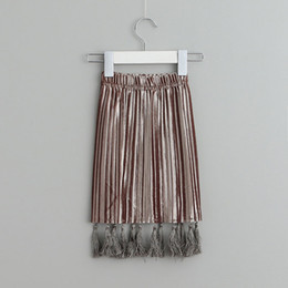 Wholesale Cool Style Child - Fashion New Spring Summer Ruffle tassels Girls Skirts Children long Pencil Skirt gold Kids baby Cool Clothes Clothing Lovekiss A42