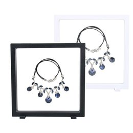 Wholesale Wholesale Jewellery Stands - 18*18cm Black white Suspended Floating Display Case Jewellery Coins Gems Artefacts Stand Holder Box