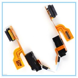 Wholesale Earphone Jack Usb Port - Original New Mic USB Dock Port Charger Charging Connector Flex Cable Ribbon For Nokia Lumia N925 925 with Earphone Audio Jack Free Shipping