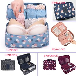 Wholesale Travel Bras Zippers - NEW Arrival Storage Cosmetic bag Wash bags Travel Bra Sorting Organizer Bags Waterproof makeup Bags purse 10pcs Free Shipping