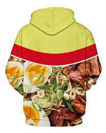 Wholesale- Noodle Soup Print Hoodie 3d printed sweatshirts Front Pocket Drawstring winter coat men women tops clothing  hooded от Поставщики лапша оптом