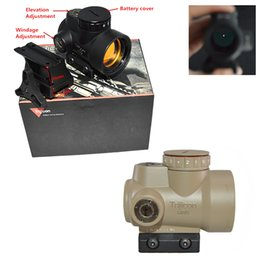 Wholesale Airsoft Red Dots - XWXS Red dot sight holographic sight trijicon mro 1x25 airsoft black low mount+QD mount