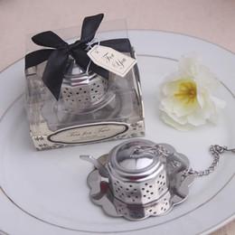 Wholesale Tea Infuser Favours - wedding favor gift and giveaways for guest--Tea for Two Teapot Tea Infuser Favours party souvenir 100pcs lot