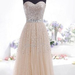 Discount sexy wedding dress tube - 2016 WEDDING DRESS Sexy tube top dress women's sequined ornaments wedding dresses newest style size pls as per our detailed size chart
