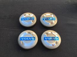 Wholesale Volvo Hub Cap - VOLVO 4pcs GRAY CENTER WHEEL COVER HUB CAPS EMBLEM RIM BADGE 3546923