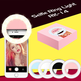 Wholesale Cable Rings - RK14 Rechargeable Selfie Ring Light with LED Camera Photography Flash Light Up Selfie Luminous Ring with USB Cable Universal for All Phones