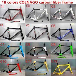 Wholesale 54cm Road Bike Frame - 2017 HOTSALE 18 colors colnago C60 carbon road frames carbon frame 46 48 50 52 54 56cm T1000 carbon bike frames