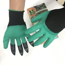 Wholesale Plant Plastics - Garden Genie Gloves For Digging & Planting Unisex 4 Claws Easy Way To Garden Digging Planting Gloves Waterproof Resistant To Thorns LC532
