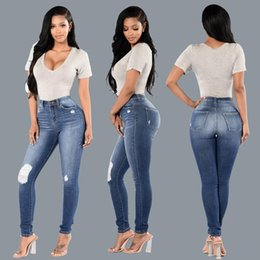 Wholesale European Style Women Suit - Foreign Trade Suit-dress Quality Holes Jeans Goods In Stock Sale A Piece Of Also Women Hot