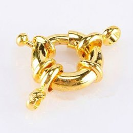Wholesale Jewelry Findings Clasps Copper - DIY Charm 13mm Fashion Copper Round Claw Spring Rings Clasps Suitable For Bracelet Jewelry Finding 50pcs lot