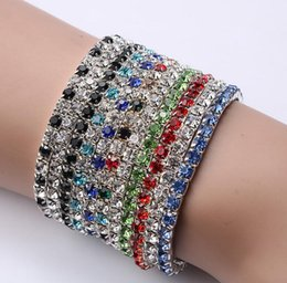 Wholesale Leather Bracelet Flash - Brand new Hot-selling jewelry flashing full of white single-row stretch bracelet FB295 mix order 20 pieces a lot Charm Bracelets