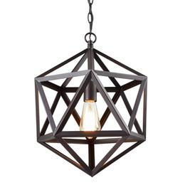 Wholesale Large Led Pendant Lights - Industrial Edison Hanging Pendant 1 Light Large Size Art Deco Cage Lamp Guard Metal Pendant Light